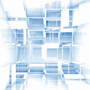 Abstract digital 3d square background texture with white cubes pattern.